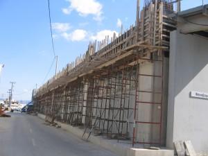 Ενίσχυση εξωτερικά υποστηλωμάτων περιμετρικά του κτιρίου