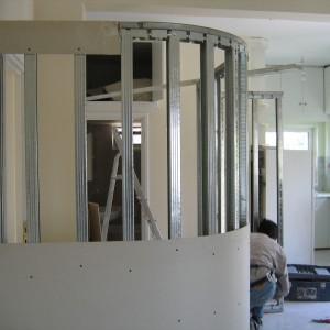 Κατασκευή καμπύλου τοίχου