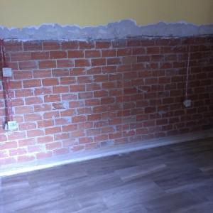 Στεγάνωση τοίχου απο τούβλα