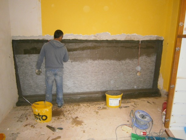 Στεγάνωση τοιχίων από τούβλα