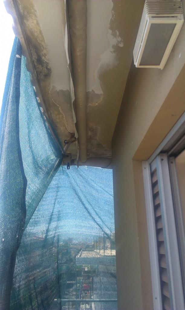 Επισκευή σοβά σε μπαλκόνι