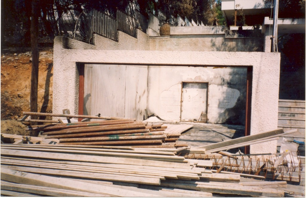 Επισκευή γκαράζ σε κατοικία λόγω πυρκαγιάς