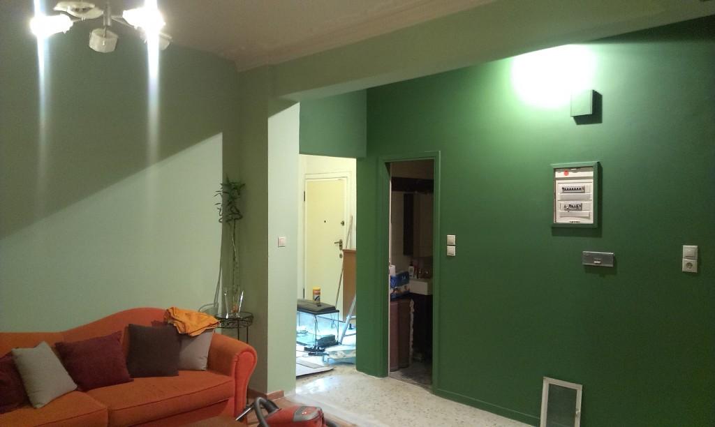 ανακαίνιση σπιτιού βάψιμο σαλόνι