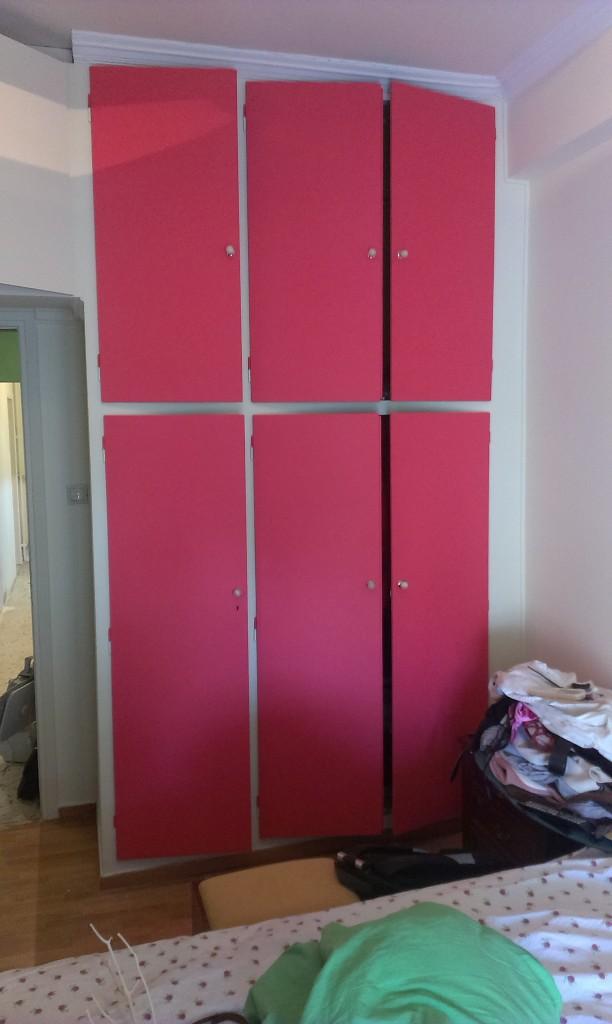 βάψιμο ντουλάπες