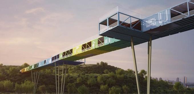 Η οικολογική γέφυρα από κοντέινερ