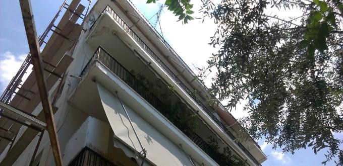 Επισκευή εξωτερικών τοίχων κτιρίου στο Μοσχάτο