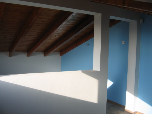 Στέγη με εμφανή ξυλεία