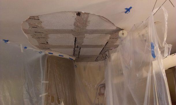 Επισκευάζοντας σωστά το ταβάνι