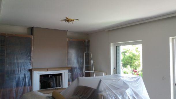 Βάψιμο σπιτιού χωρίς σκόνες