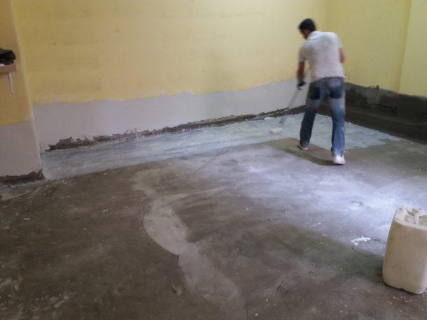 Στεγάνωση υπόγειου δαπέδου