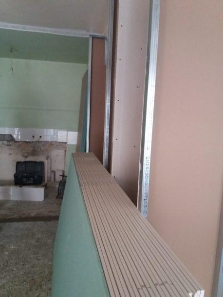 εσωτερικοί τοίχοι με γυψοσανίδες
