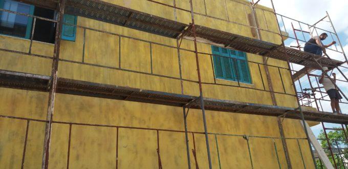 Εξωτερική θερμομόνωση με πετροβάμβακα κτιρίου