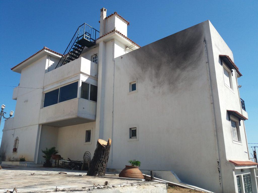 Αποκατάσταση κτιρίου από πυρκαγιά στο Ν.Βουτζά