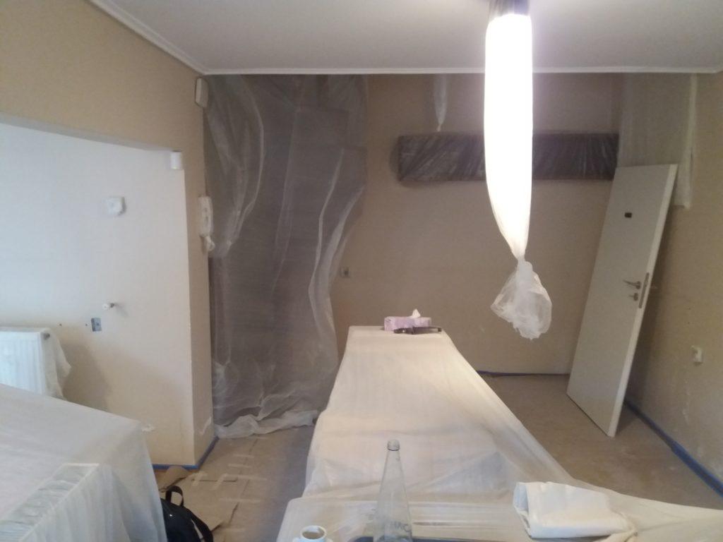 προετοιμασία χώρου σε ανακαίνιση σπιτιού
