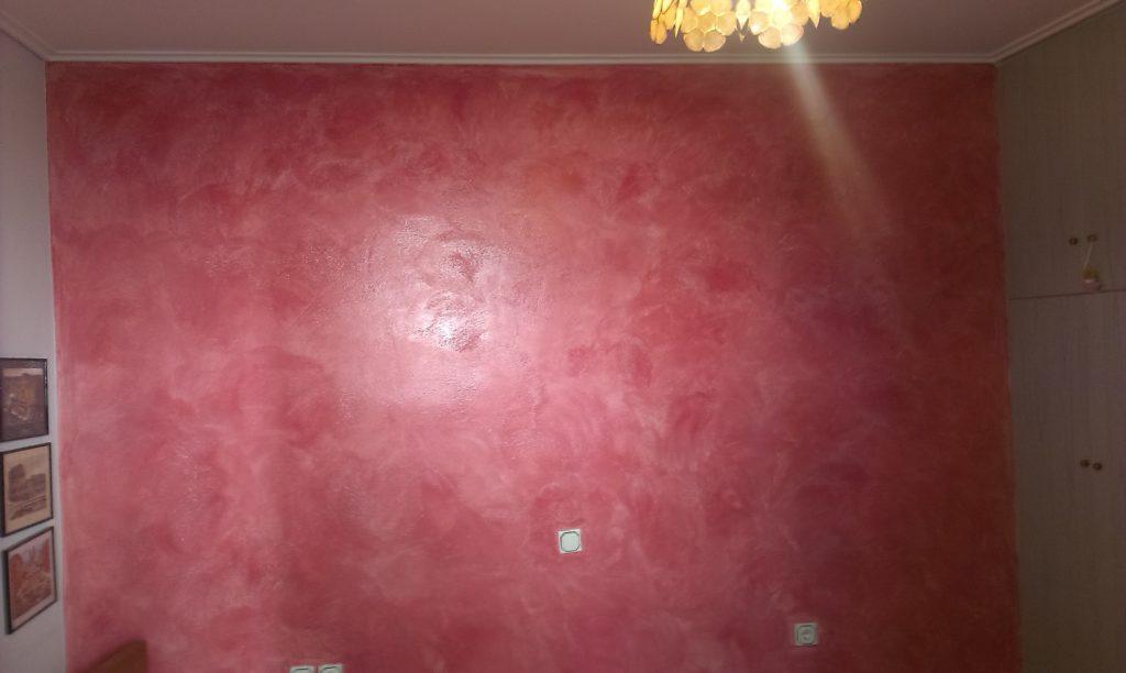 εσωτερική ανακαίνιση σπιτιού τεχνοτροπία τοίχου