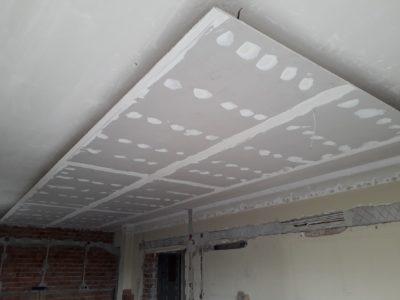 τοποθέτηση γυψοσανίδας σε οροφή